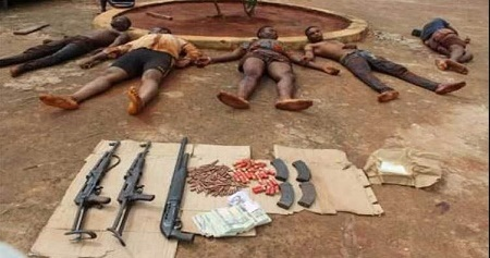 See Notorious Armed Robbers Killed During a Gun Battle With Policemen in Anambra State (Photo)