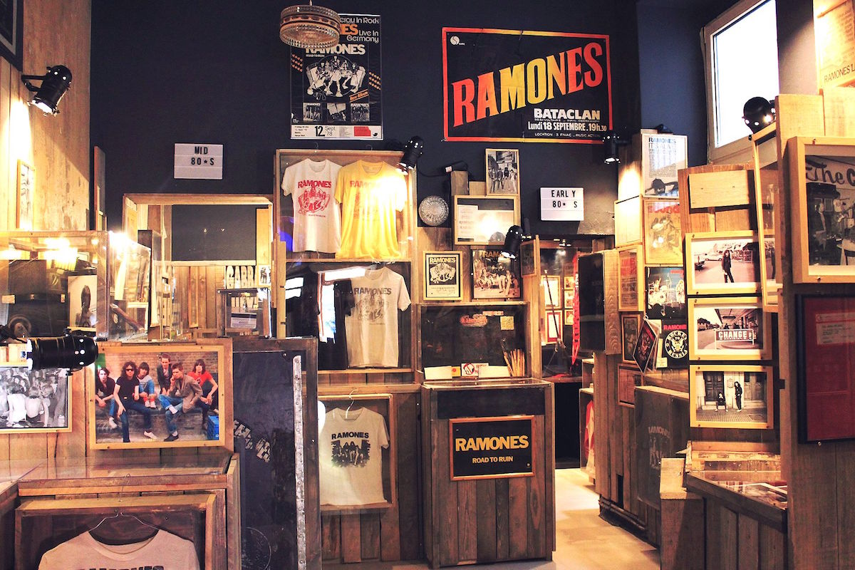 The Ramones collection in the museum is overwhelming and extraordinary as it fills every inch of the small space