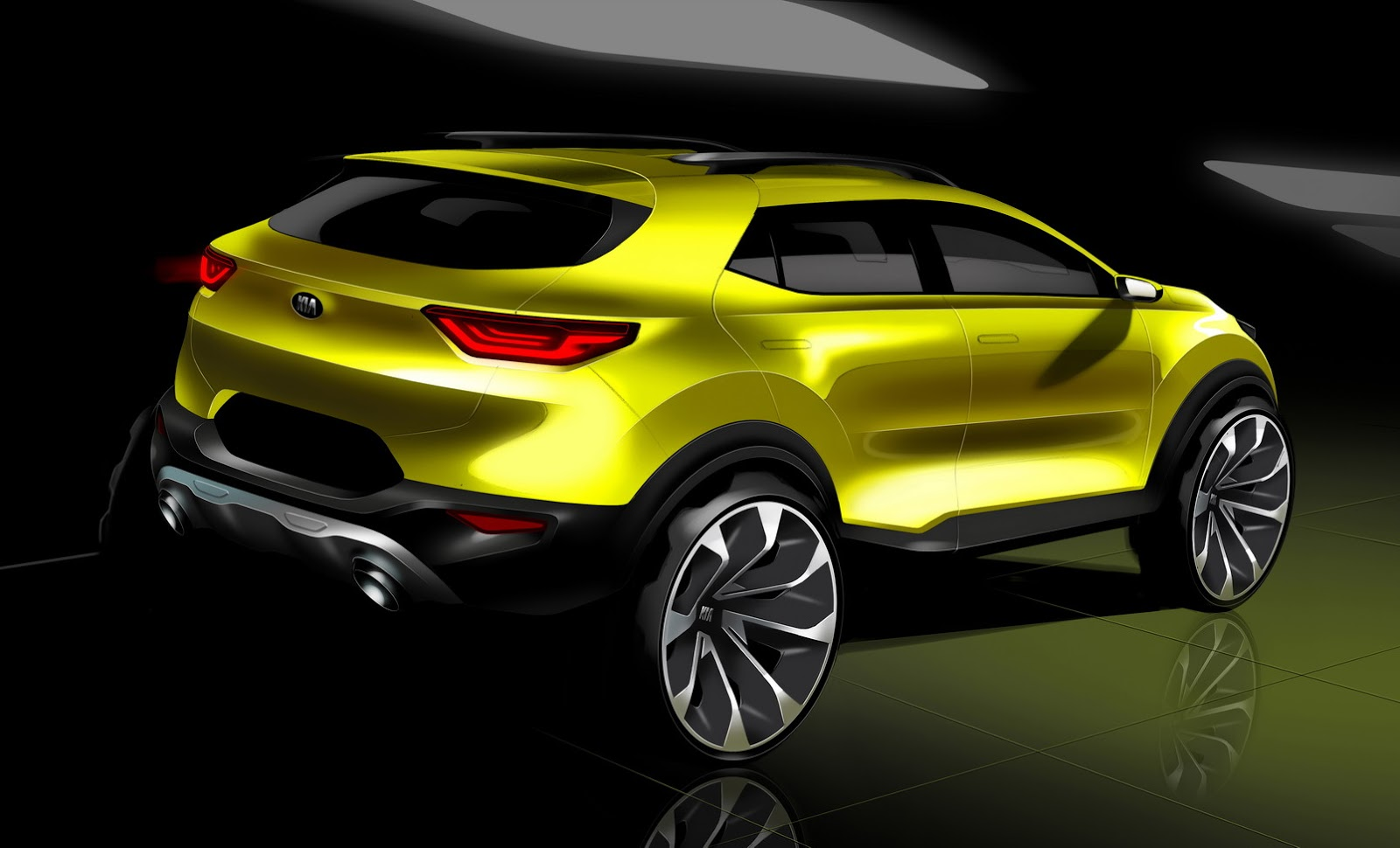 kia shows new stonic small crossover in official sketches. Black Bedroom Furniture Sets. Home Design Ideas