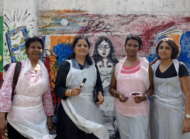 Artists at The Art Walk 360, (L to R) Milburn Cherian, Chitra Vaidya, Sumana Nath De, Ami Patel