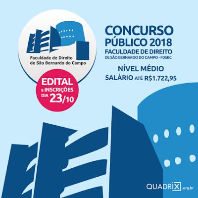 CONCURSO PÚBLICO FDSBC - EDITAL 2018