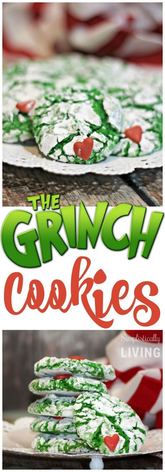 CRINKLY, CRANKY, GRINCH COOKIES #crinkly #cranky #grinch #cookies #cookierecipes #easycookierecipes