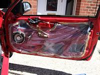 Rover 25 door casing removed