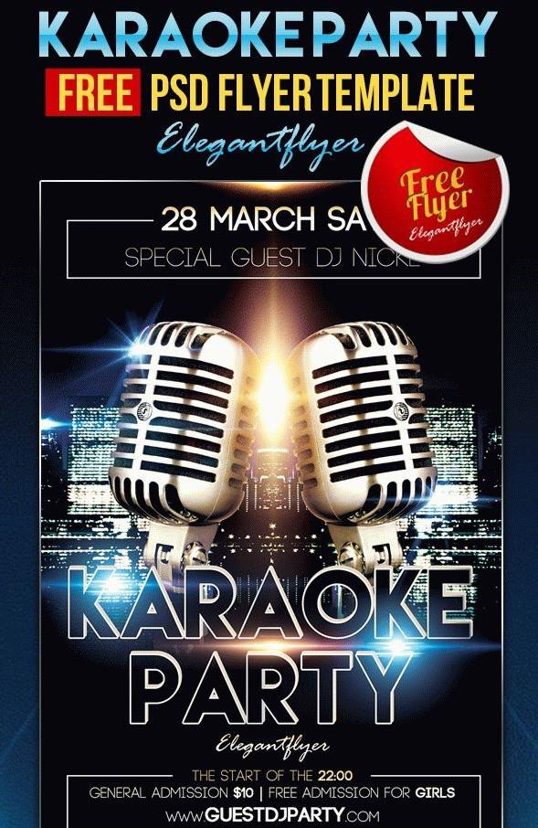 75 Best Karaoke Flyer Template Graphic Design Resources