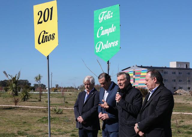 Macri visitó el complejo turístico Parque Termal Dolores