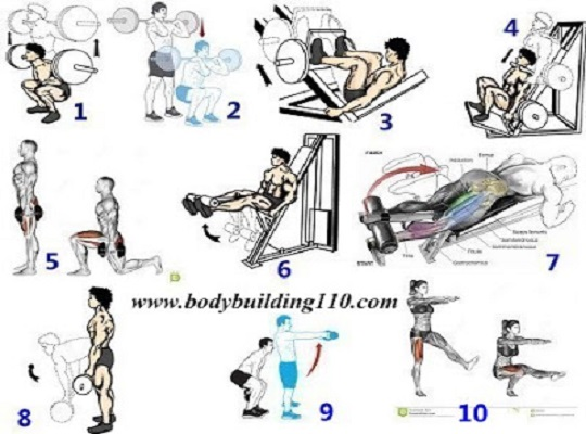 Leg Workout With Exercise