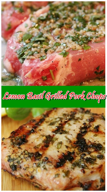 Lemon Basil Grilled Pork Chops