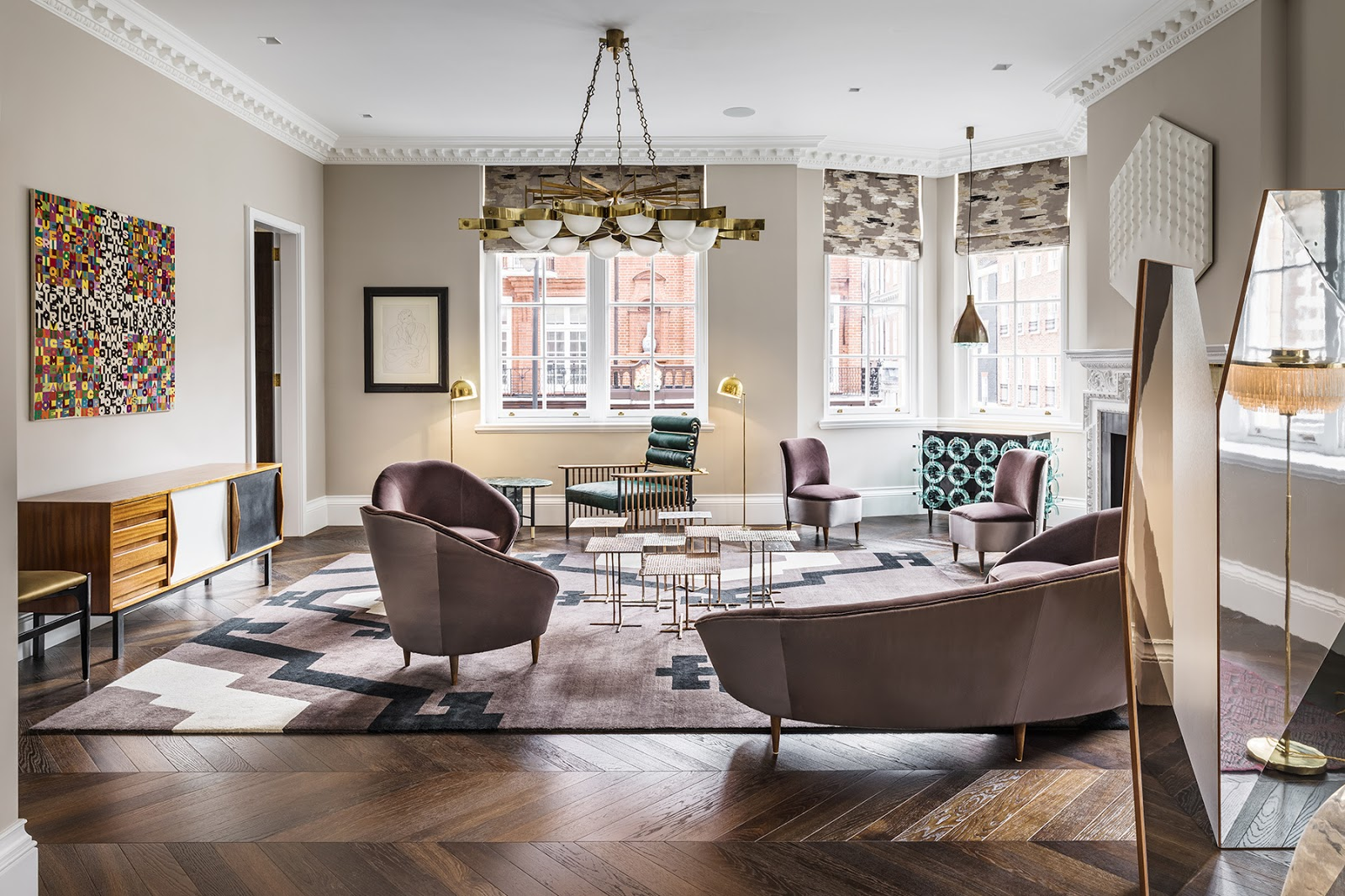 Design attractor luxury apartment with a spectacular for Apartment design london