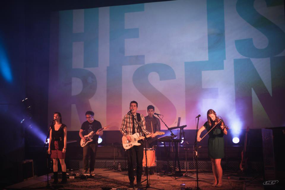 Resonate Church - The Hymn Record 2013 band members at todd auditorium