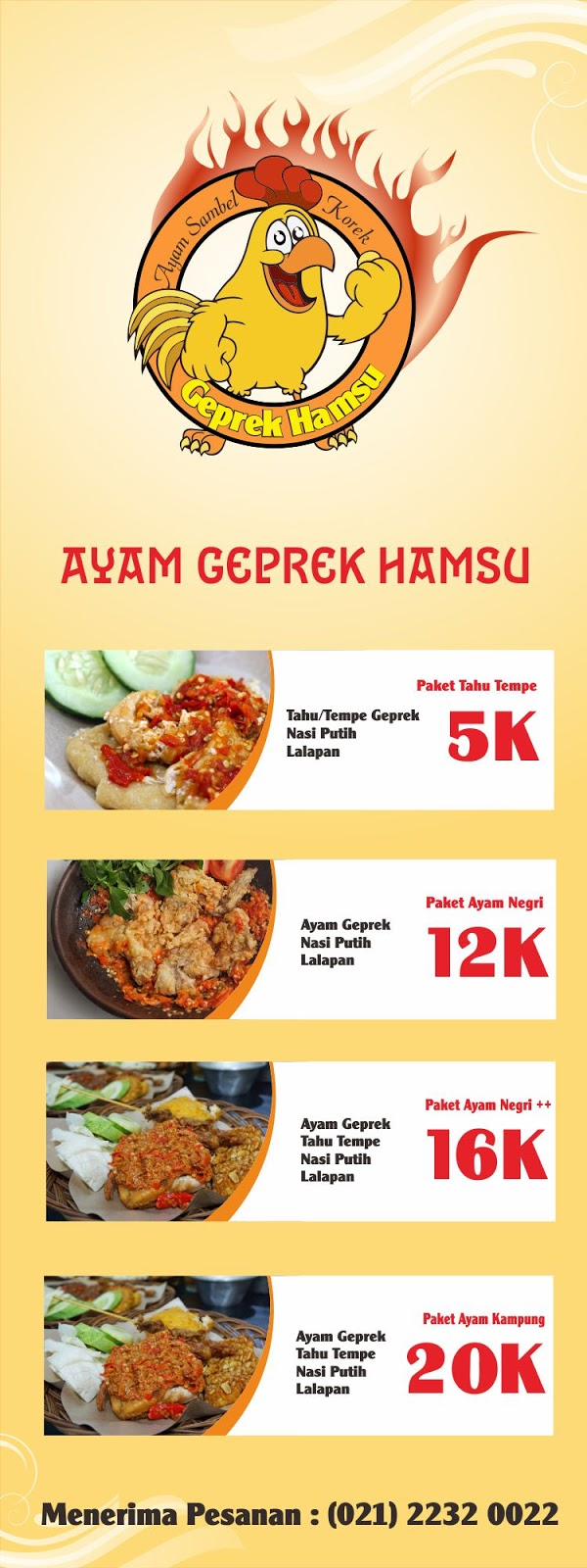 Contoh X Banner Ayam Bakar - desain spanduk kreatif