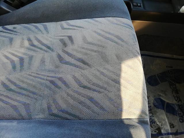 トヨタ/ランドクルーザープラド ファブリックシートタバコの焦げ跡の補修after