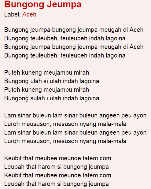 Download Lagu Bungong Jeumpa : download, bungong, jeumpa, Lirik, Bungong, Jeumpa