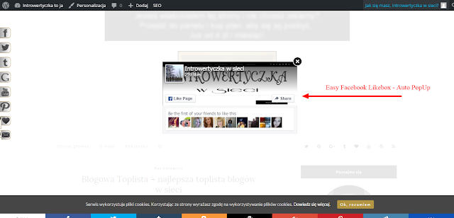 Wordpress: Easy Facebook Likebox - Auto PopUp