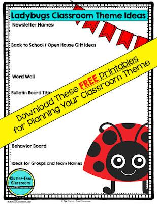 Ladybug Themed Classroom - Ideas  Printable Classroom Decorations
