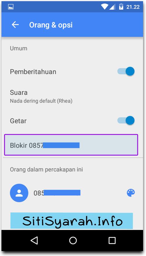 Blokir SMS tanpa aplikasi di Android