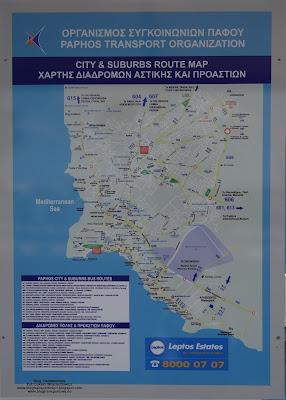 Pafos, schemat połączeń