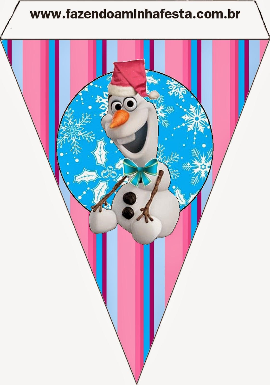 Para Banderines para imprimir gratis de Frozen para Navidad.