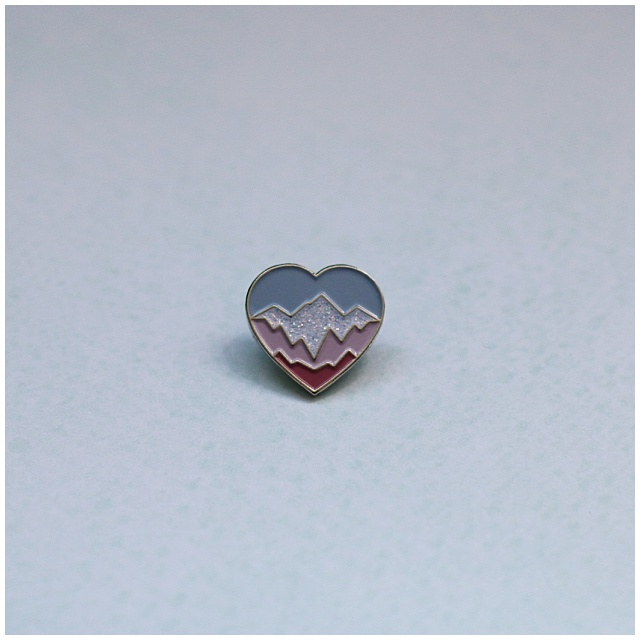 The Snowgosh pin. Raising money for the breast cancer charity, Coppafeel!