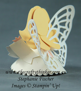 #thecraftythinker  #inkitstampitbloghop  #stampinup  #3dangel  #christmastablefavour  #christmasplacename  #punchartangel  , 3D angel, Christmas table favour, Christmas place name, Punch art Angel, Stampin' Up Australia Demonstrator, Stephanie Fischer, Sydney NSW