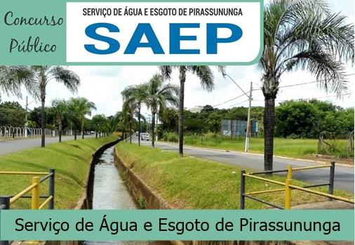 concurso SAEP Pirassununga edital 2018