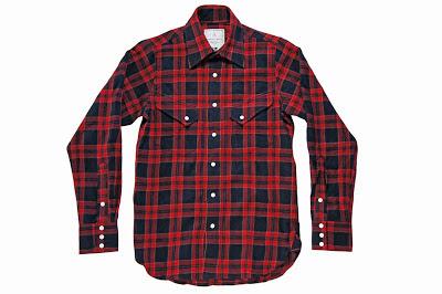 BLACK&BLUE [ チェックシャツ ] 赤チェック