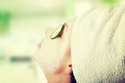 Masque concombre et huile de persil