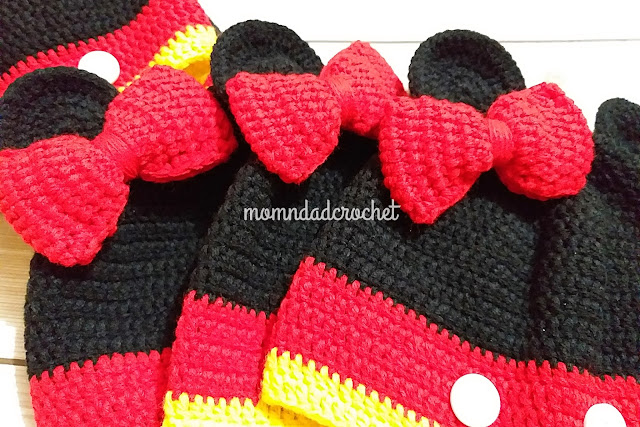 crochet, Mickey Mouse hat, Minnie Mouse hat, crochet made to order,