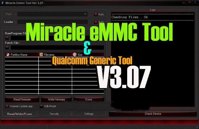 Miracle eMMC Tool & Qualcomm Generic Tool v3.07 Full Setup