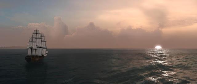 Navio en el mar e inversion