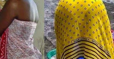 NYANZA WOMAN BEHAVING BADLY: WASHING CLOTHS NAYKED TO ...