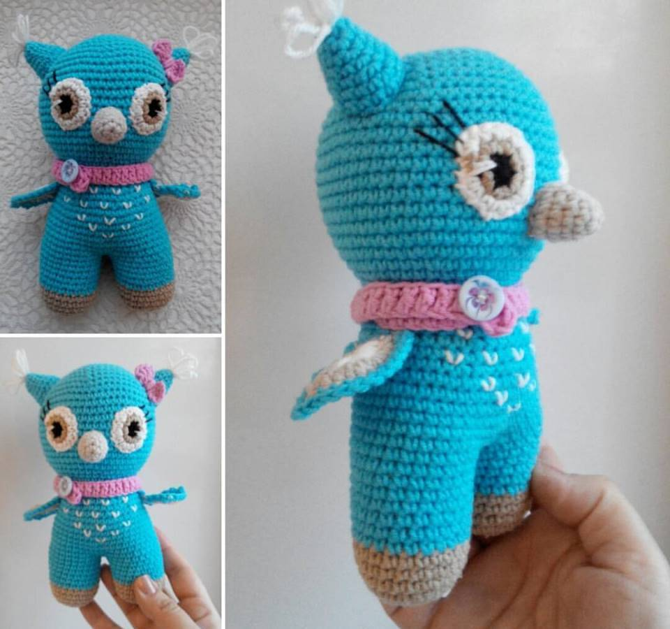 Crochet toy baby owl