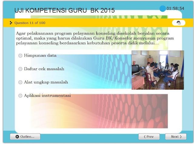 Download Terbaru Simulasi UKG BK Tahun 2015