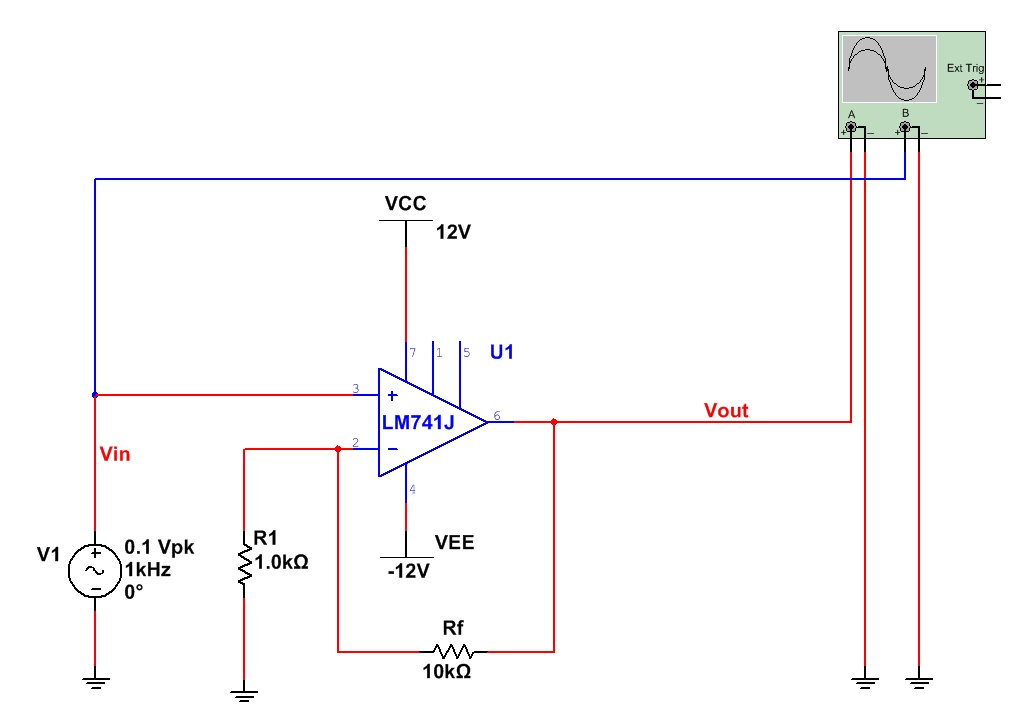 circuit diagram of non inverting amplifier 94 ford ranger wiring the answer is 42 op amps and amplifiers with a gain 11