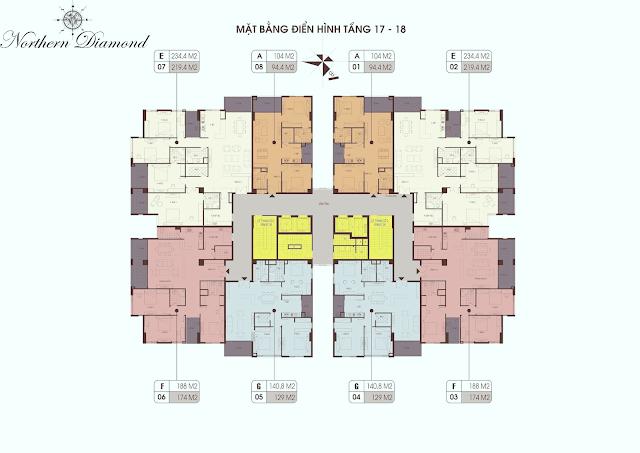 thiết kế căn hộ điển hình tại dự án Northern Long Biên