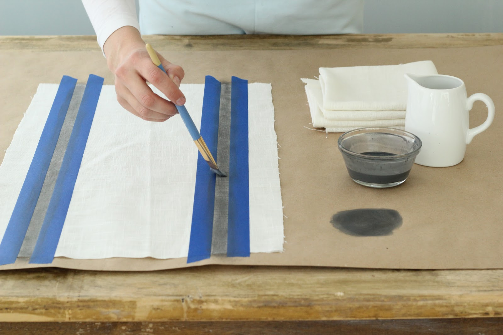 Hand Painted Linen Kitchen Towels Napkins Easy Diy Project
