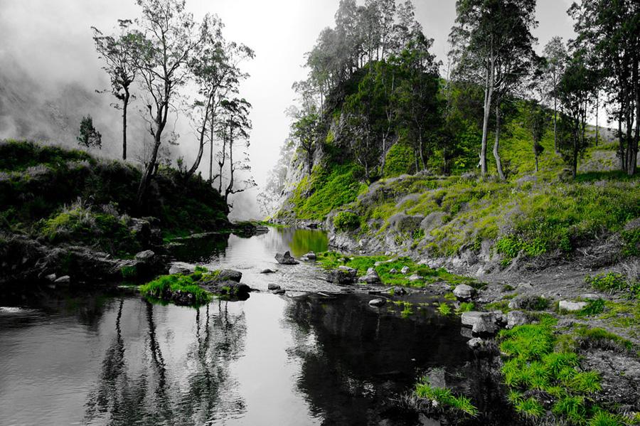Lokasi Danau Segara Anak, dari sinilah kita akan menuju sumber air panas yaitu (Aik Kalak) Gunung Rinjani
