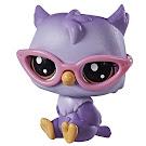 Littlest Pet Shop Series 1 Pet Pairs Oona Owler (#1-77) Pet