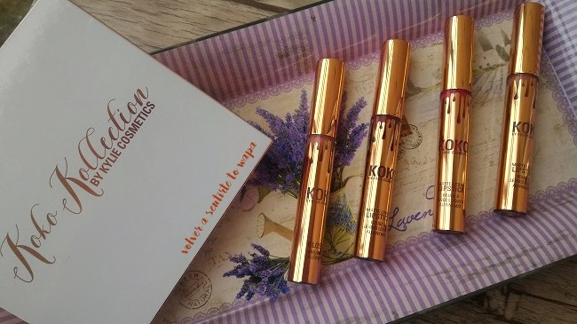 Set de labiales mate de Kylie Cosmetics de su colección Koko Collection