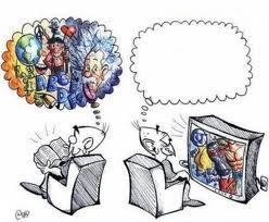Meme de humor sobre televisión y lectura