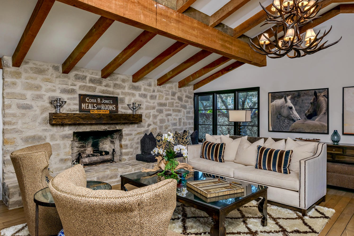 ciao! newport beach: living room - monterey colonial style