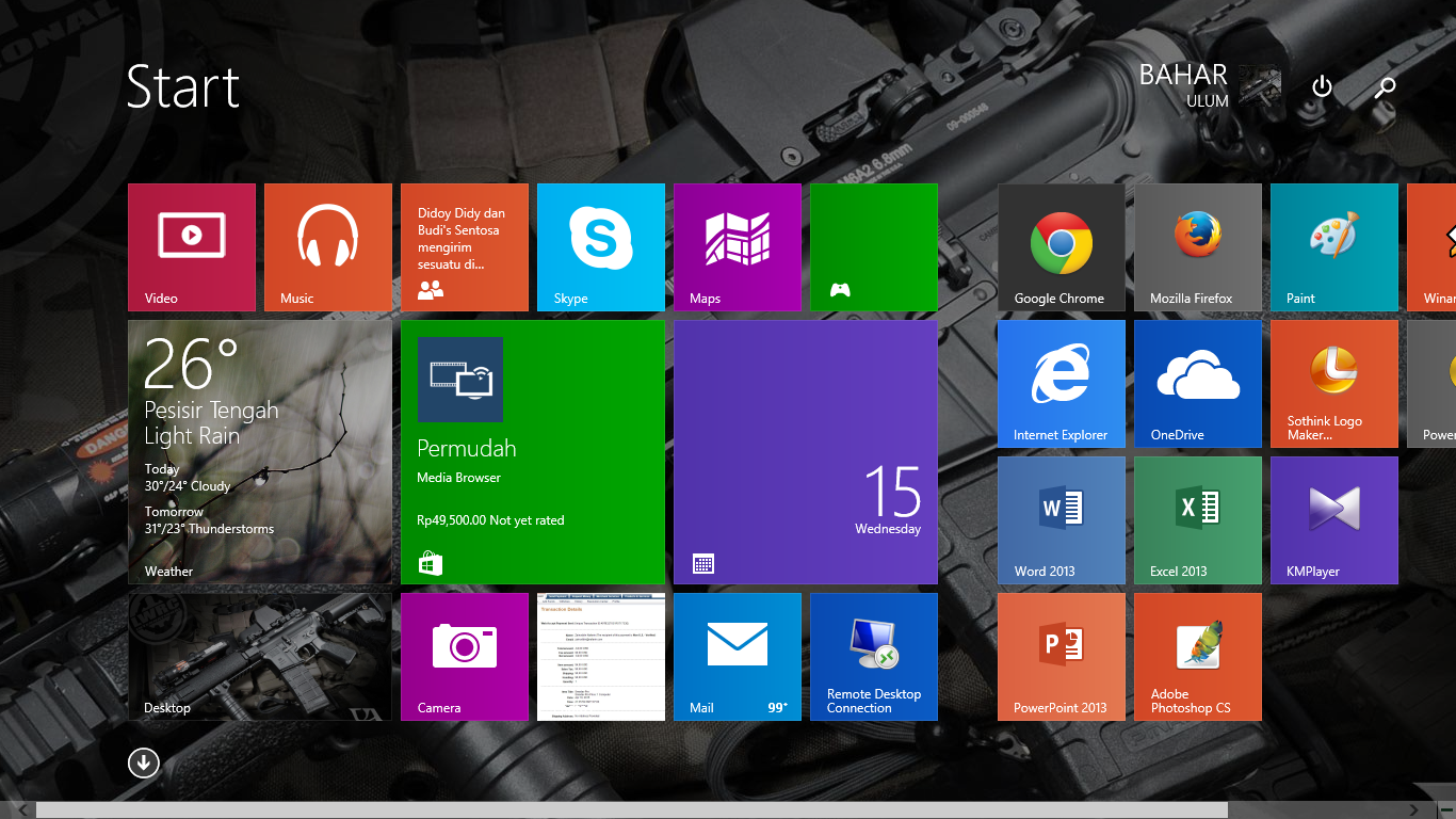 Cara Mengganti Background Start Screen Windows 8.1