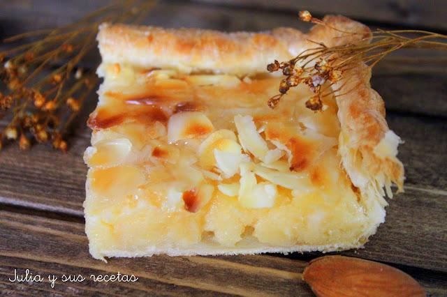 Hojaldre de crema de almendras. Julia y sus recetas