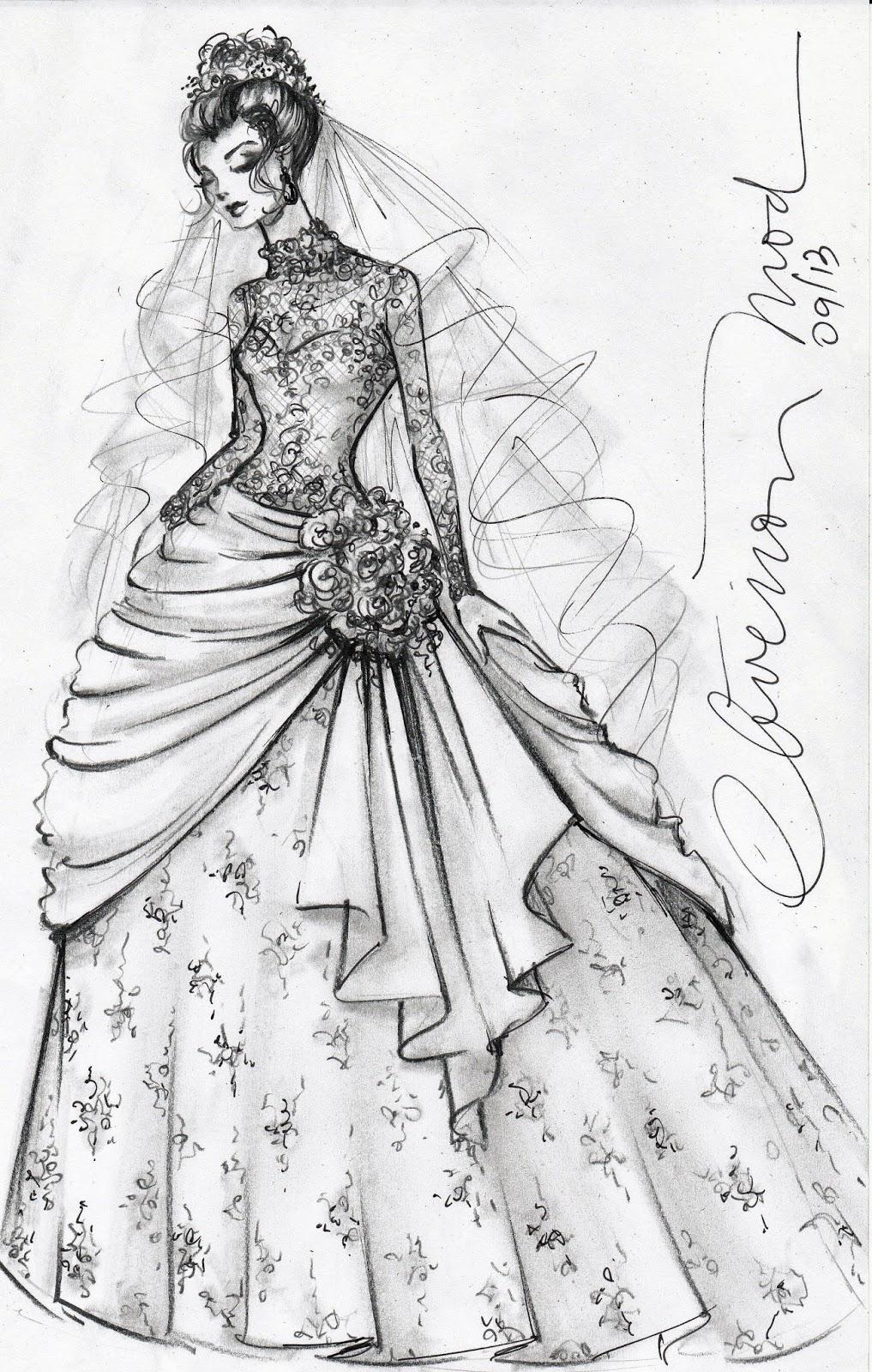 Imagens De Desenhos De Vestidos Longos