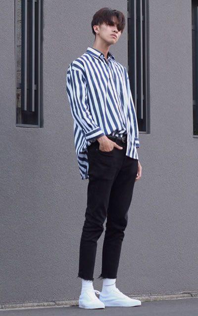 Look masculino com listras verticais