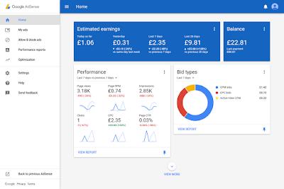 AntaraMuka (Interface) Google Adsense Baru, Google Adsense,