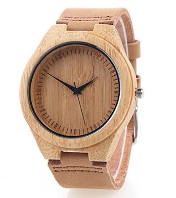 reloj pulsera bambu