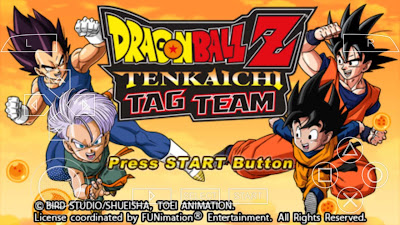 download Dragon Ball Z Tenkaichi Tag Team ISO CSO Compress For PPSSPP