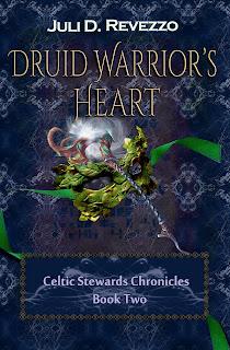 Druid Warrior's Heart by Juli D. Revezzo, paranormal pagan fiction, paranormal pagan romance fiction