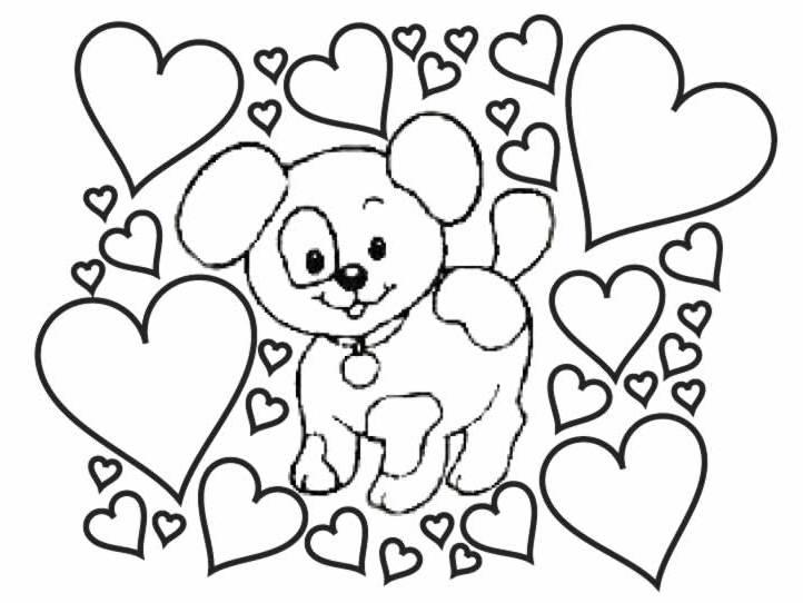 Fazendo a nossa festa colorir imagens de cachorros para colorir - Chiot a colorier ...