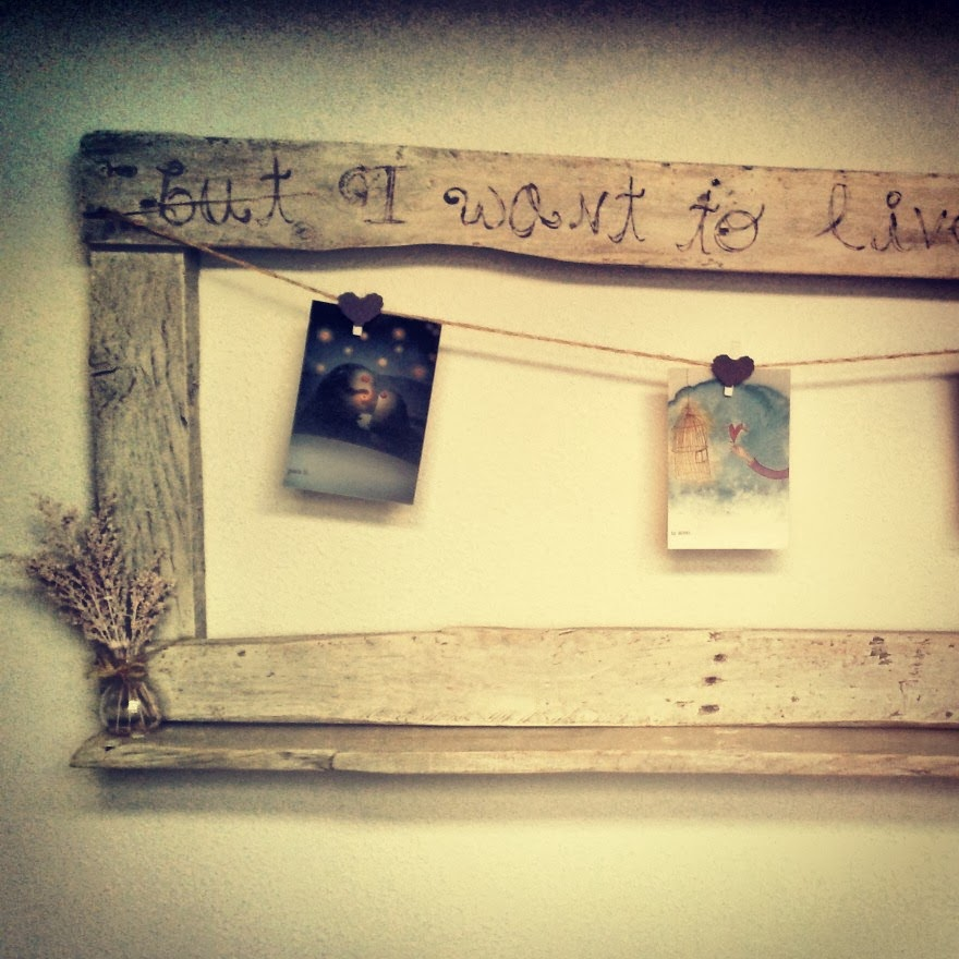 marco viejo madera vintage personal palet regalo amor letras postales fotos frame old wood gift love letters pictures photos cards